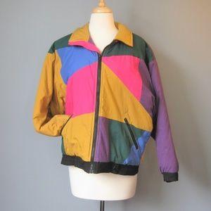 Vintage 1990s Color Block ski Jacket
